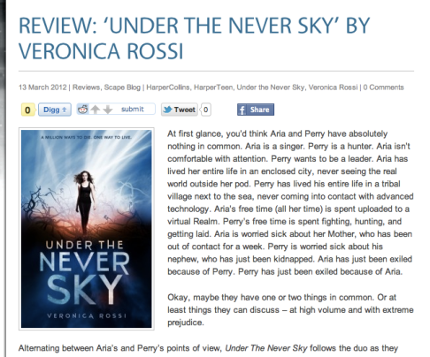 Screenshot of review
